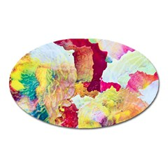 Art Detail Abstract Painting Wax Oval Magnet