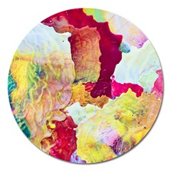 Art Detail Abstract Painting Wax Magnet 5  (round)