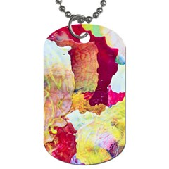 Art Detail Abstract Painting Wax Dog Tag (two Sides) by Nexatart