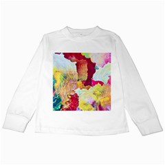 Art Detail Abstract Painting Wax Kids Long Sleeve T Shirts