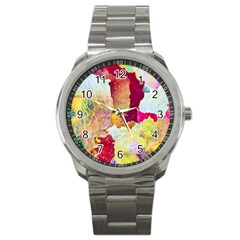 Art Detail Abstract Painting Wax Sport Metal Watch