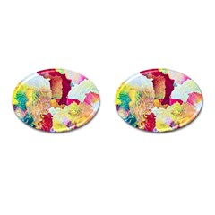 Art Detail Abstract Painting Wax Cufflinks (oval)