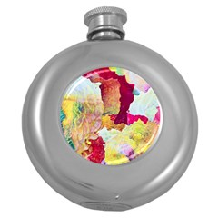 Art Detail Abstract Painting Wax Round Hip Flask (5 Oz)
