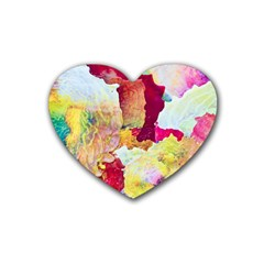 Art Detail Abstract Painting Wax Rubber Coaster (heart)