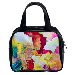 Art Detail Abstract Painting Wax Classic Handbags (2 Sides)