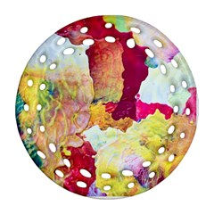 Art Detail Abstract Painting Wax Ornament (round Filigree)