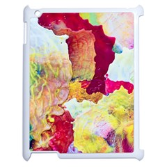 Art Detail Abstract Painting Wax Apple Ipad 2 Case (white)