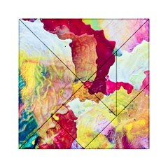 Art Detail Abstract Painting Wax Acrylic Tangram Puzzle (6  X 6 )