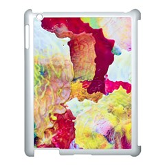 Art Detail Abstract Painting Wax Apple Ipad 3/4 Case (white)