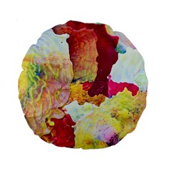 Art Detail Abstract Painting Wax Standard 15  Premium Round Cushions