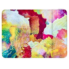 Art Detail Abstract Painting Wax Samsung Galaxy Tab 7  P1000 Flip Case by Nexatart