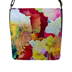 Art Detail Abstract Painting Wax Flap Messenger Bag (l)