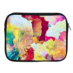 Art Detail Abstract Painting Wax Apple Ipad 2/3/4 Zipper Cases