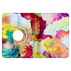 Art Detail Abstract Painting Wax Kindle Fire Hdx Flip 360 Case
