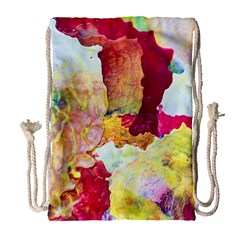 Art Detail Abstract Painting Wax Drawstring Bag (large)