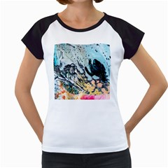 Abstract Structure Background Wax Women s Cap Sleeve T