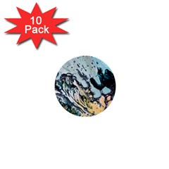 Abstract Structure Background Wax 1  Mini Buttons (10 Pack)