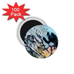 Abstract Structure Background Wax 1 75  Magnets (100 Pack)