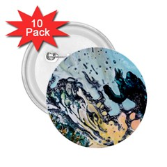 Abstract Structure Background Wax 2 25  Buttons (10 Pack)