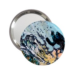 Abstract Structure Background Wax 2 25  Handbag Mirrors