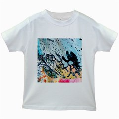 Abstract Structure Background Wax Kids White T Shirts by Nexatart