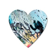 Abstract Structure Background Wax Heart Magnet