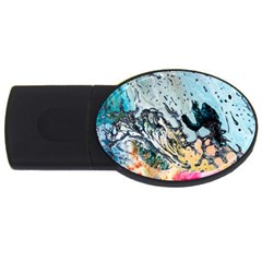 Abstract Structure Background Wax Usb Flash Drive Oval (4 Gb)