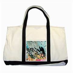 Abstract Structure Background Wax Two Tone Tote Bag