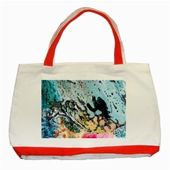 Abstract Structure Background Wax Classic Tote Bag (red)
