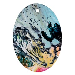 Abstract Structure Background Wax Oval Ornament (two Sides)
