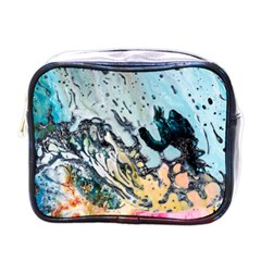 Abstract Structure Background Wax Mini Toiletries Bags