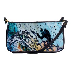 Abstract Structure Background Wax Shoulder Clutch Bags