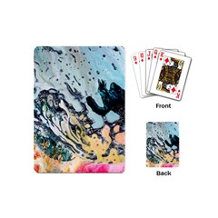 Abstract Structure Background Wax Playing Cards (mini)