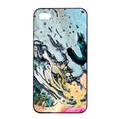 Abstract Structure Background Wax Apple Iphone 4/4s Seamless Case (black)