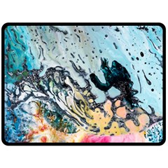 Abstract Structure Background Wax Double Sided Fleece Blanket (large)