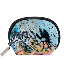 Abstract Structure Background Wax Accessory Pouches (small)