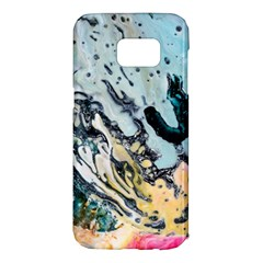 Abstract Structure Background Wax Samsung Galaxy S7 Edge Hardshell Case by Nexatart