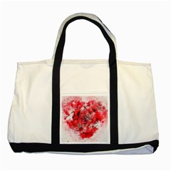 Flower Roses Heart Art Abstract Two Tone Tote Bag