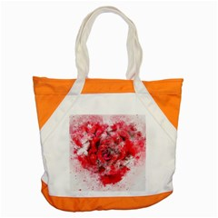 Flower Roses Heart Art Abstract Accent Tote Bag
