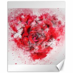 Flower Roses Heart Art Abstract Canvas 16  X 20