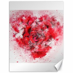 Flower Roses Heart Art Abstract Canvas 18  X 24