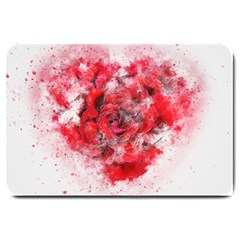 Flower Roses Heart Art Abstract Large Doormat