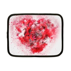 Flower Roses Heart Art Abstract Netbook Case (small)