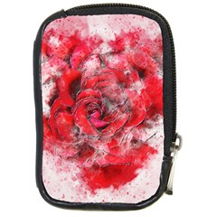 Flower Roses Heart Art Abstract Compact Camera Cases by Nexatart