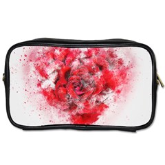 Flower Roses Heart Art Abstract Toiletries Bags 2 Side