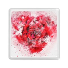 Flower Roses Heart Art Abstract Memory Card Reader (square)