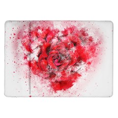 Flower Roses Heart Art Abstract Samsung Galaxy Tab 10 1  P7500 Flip Case
