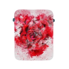 Flower Roses Heart Art Abstract Apple Ipad 2/3/4 Protective Soft Cases