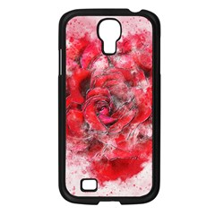 Flower Roses Heart Art Abstract Samsung Galaxy S4 I9500/ I9505 Case (black) by Nexatart