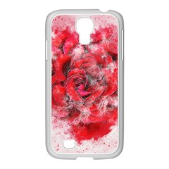 Flower Roses Heart Art Abstract Samsung Galaxy S4 I9500/ I9505 Case (white)